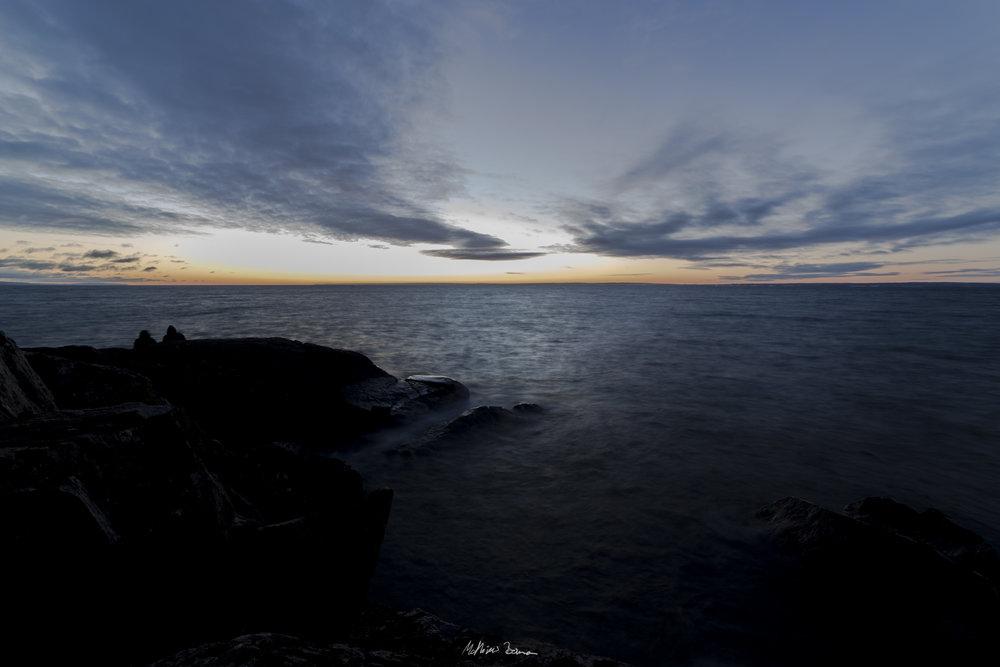 Himmel från solnedgång vid Stocklyckehamn