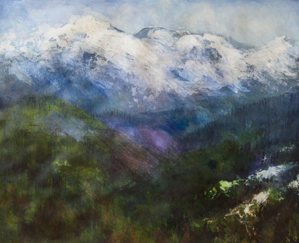"Enchanted Valley, Mt Olympus, WA, Watercolor, pencil, ink and acrylic on paper, 2011 32""x 38"""