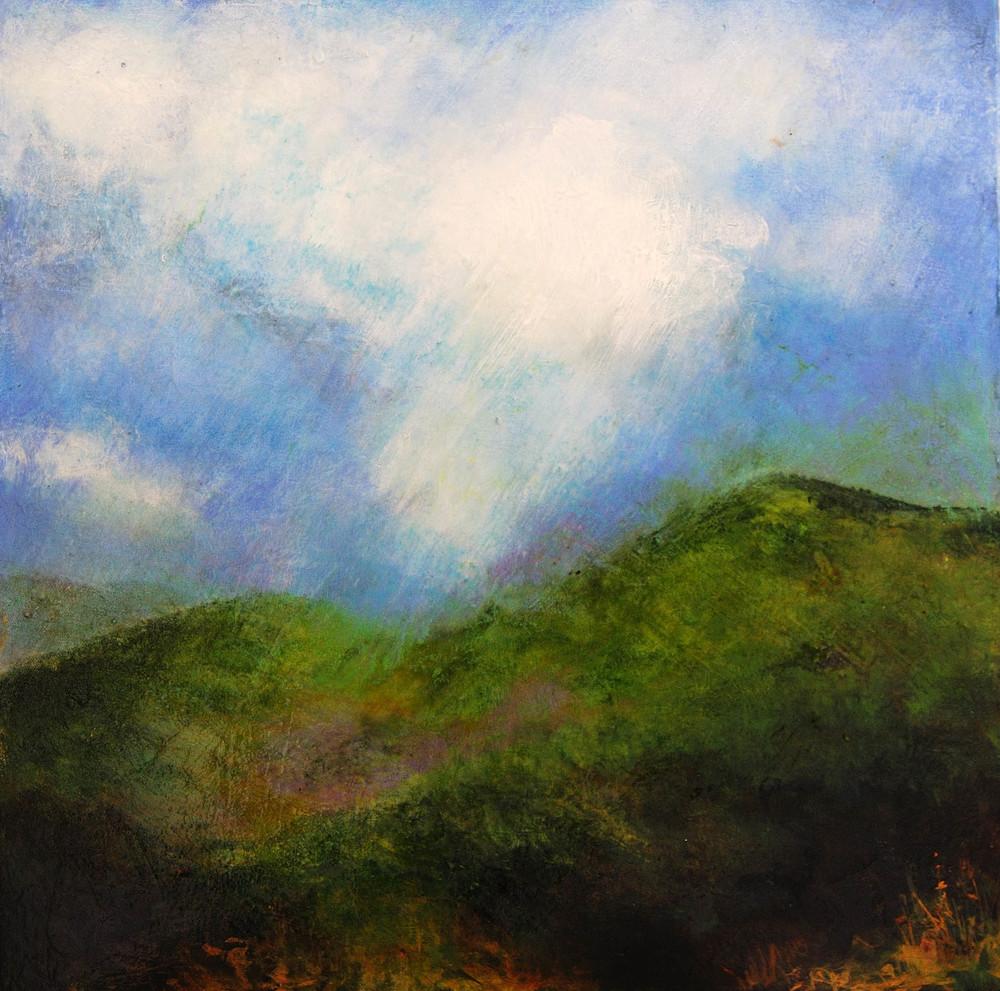 "Acadia, Mt Desert, Mixed media on canvas, 2010 20"" x 20"""