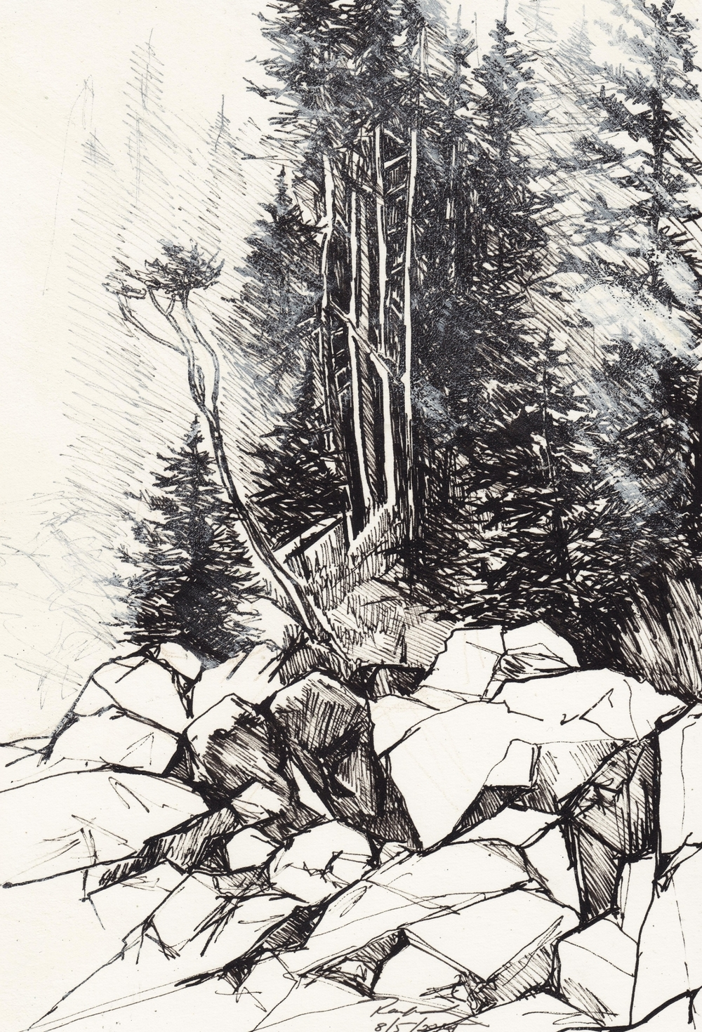 "Otter Cliffs Walk, 2009, 8 1/2"" x 11"""