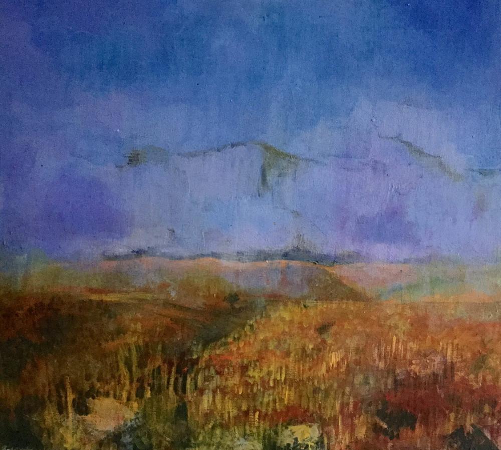 "No Man's Land, Golan Heights, Israel, Mixed media on Canvas, 16"" x 20"" 1997"