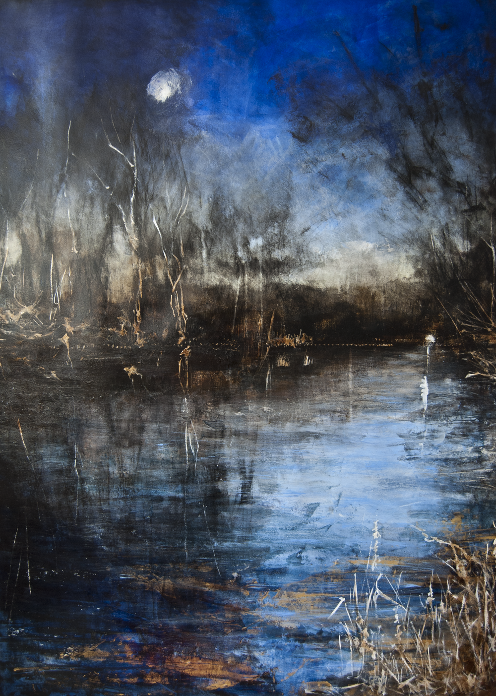 © Rachel Weatherford Whitlow—Moon Rising on the Brandywine, Kennett Square PA 2017