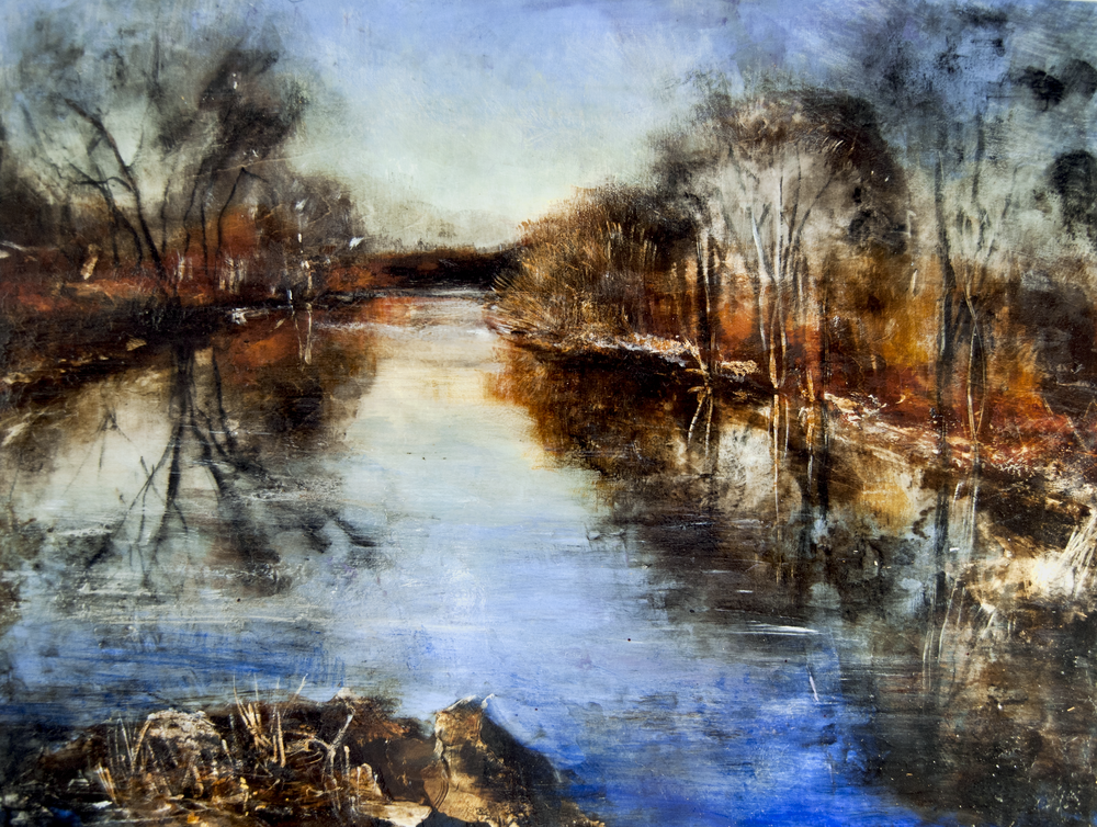 © Rachel Weatherford Whitlow—Sunset on the Brandywine River, Kennett SQ. PA 2017