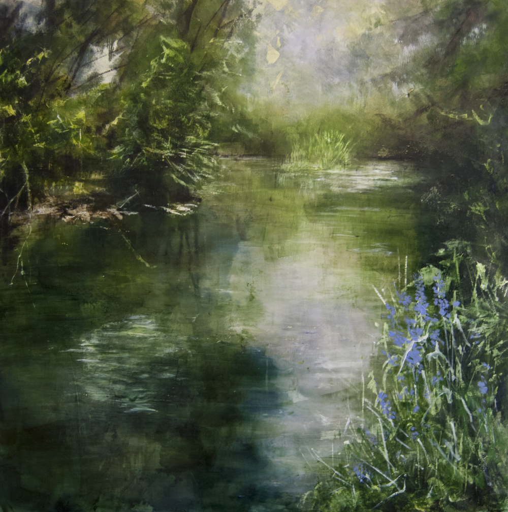 © Rachel Weatherford Whitlow—Summer Reflections on the Brandywine, Kennett SQ. PA