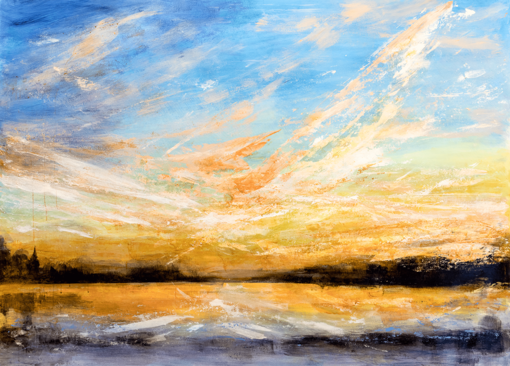 ©Rachel Whitlow_Sunset on the Hudson NY_MM on paper_40 x 60_2017 PFP shrp.png