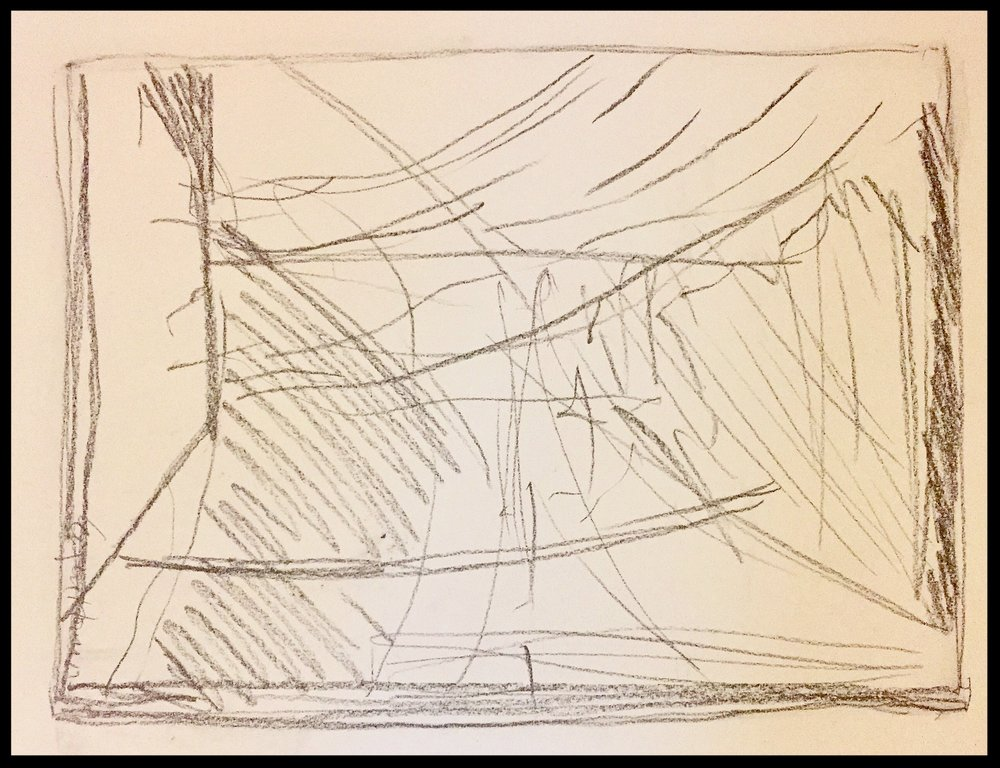 Untitled Drawing,(notes for paintings), 2017