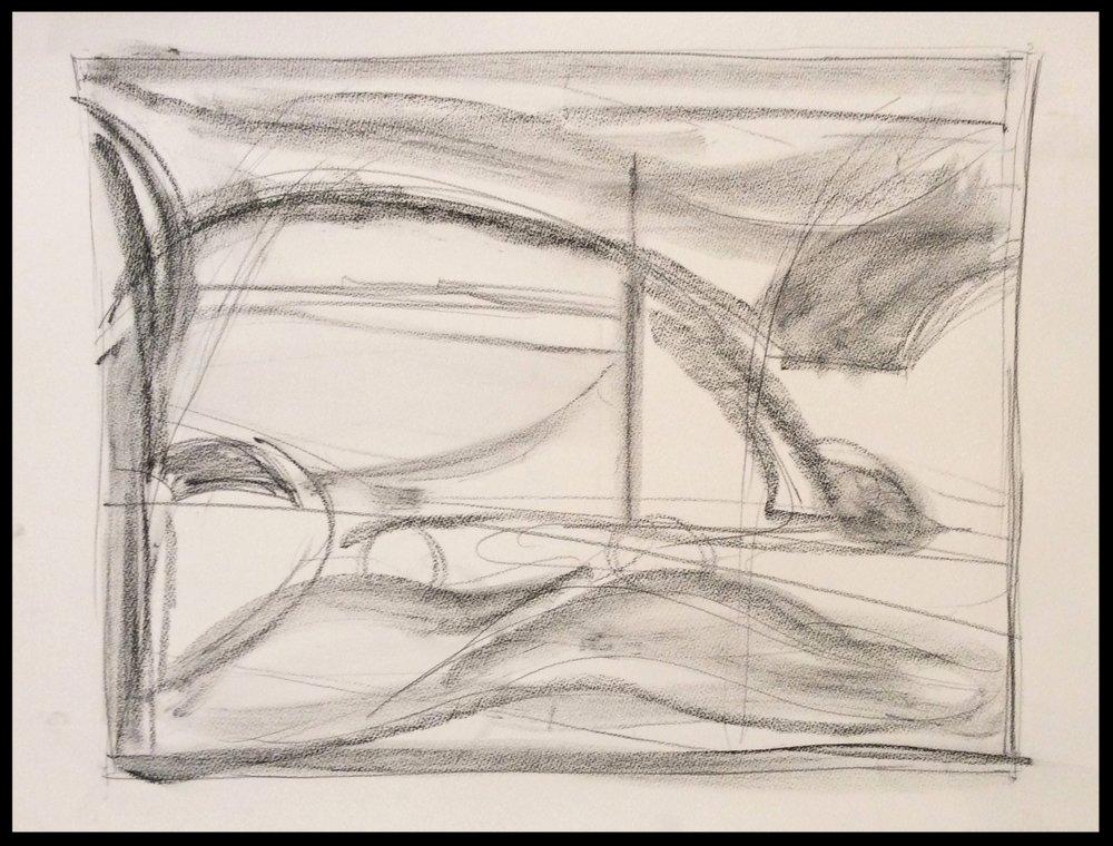Study, My Memory of Paris(after Edward Hopper), 2016