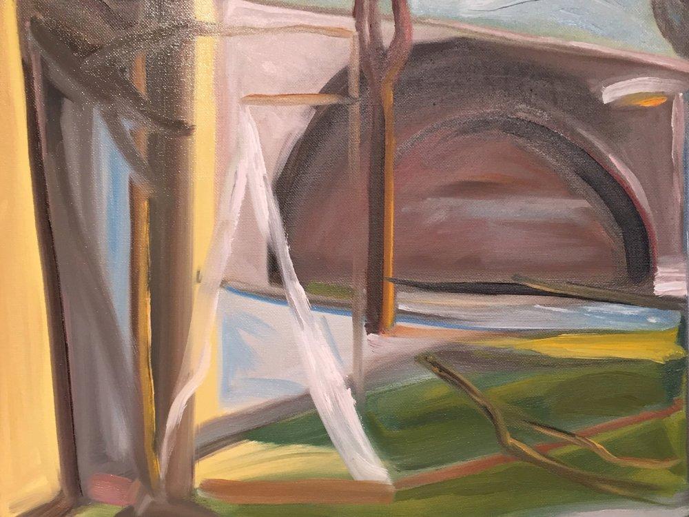 Study,My Memory of Paris(after Edward Hopper)2016