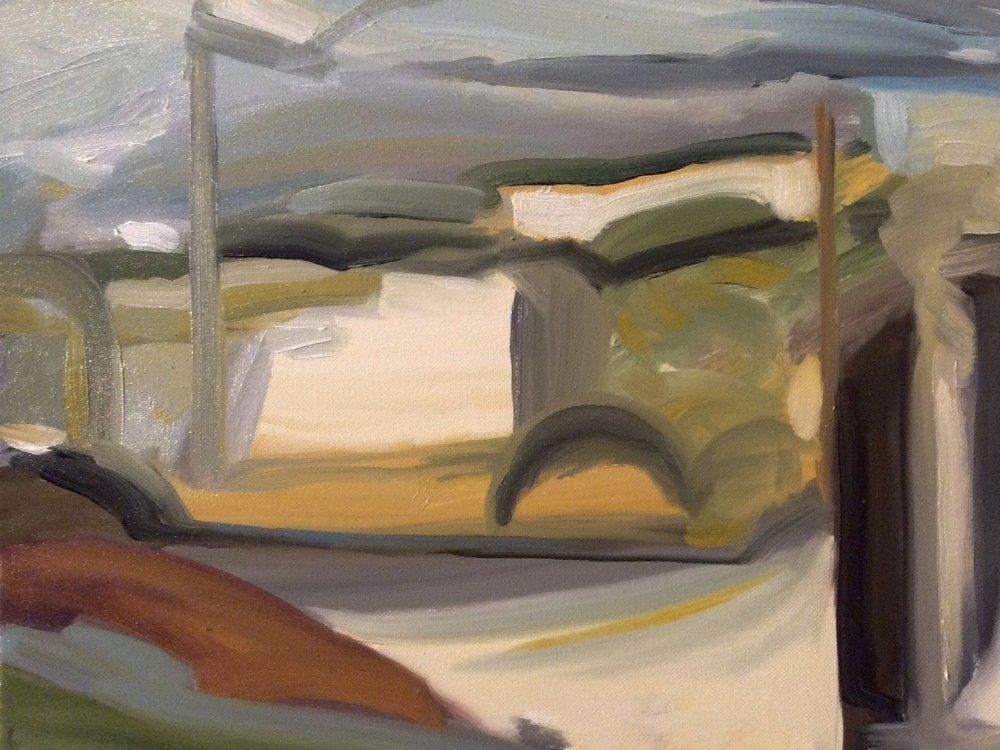 My Memory of Paris(after Edward Hopper ), 2016
