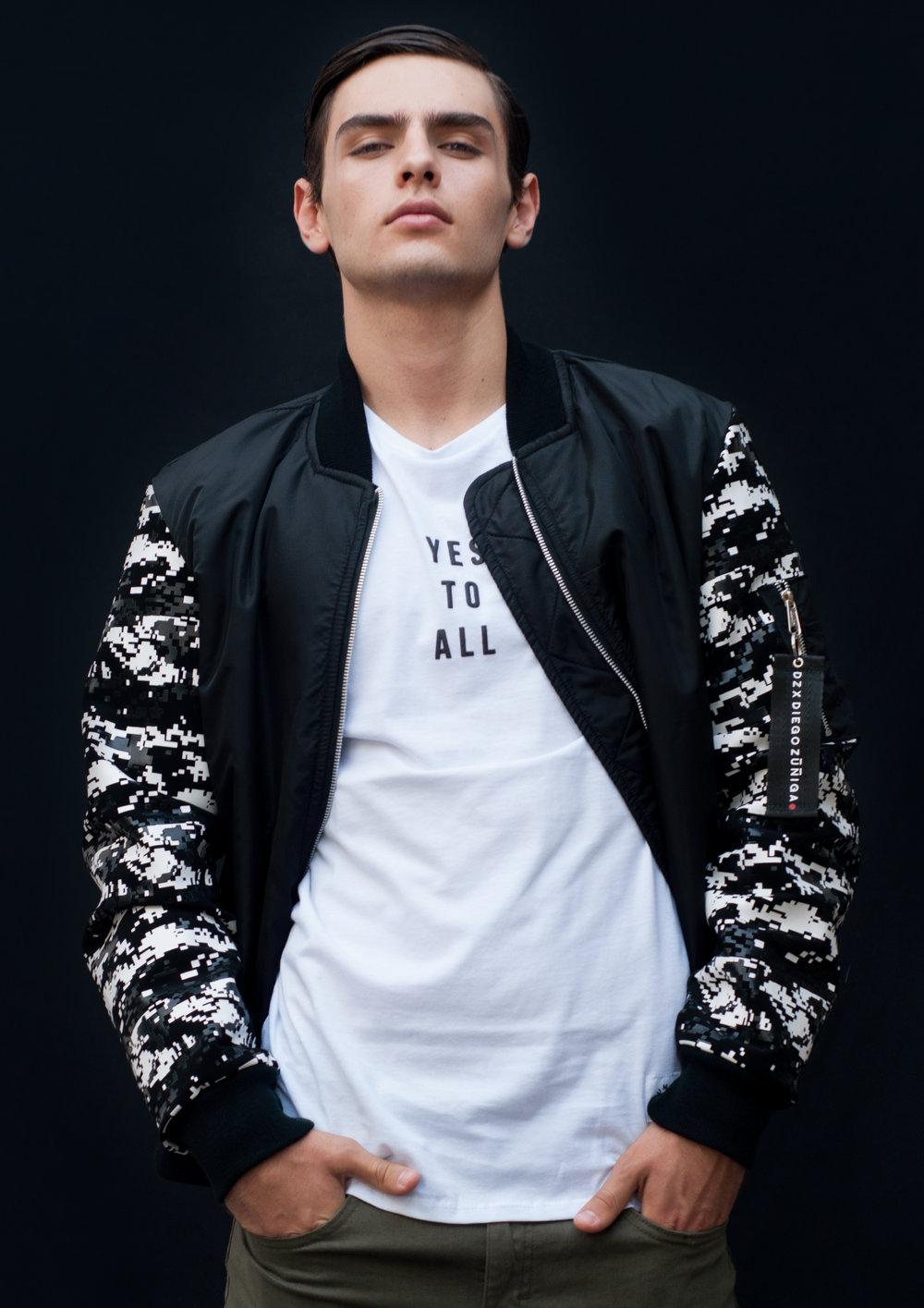 jacket   DIEGO ZUNIGA MENSWEAR ,  t-shirt   RUMVO ,  joggers   LOB