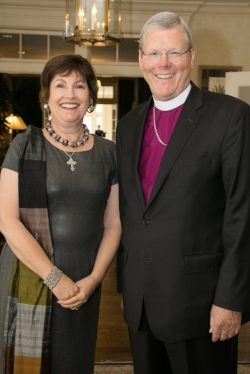Anita Sanborn and Bishop O'Neill
