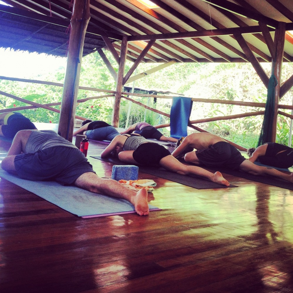 Yoga farm family, Costa Rica, 2013
