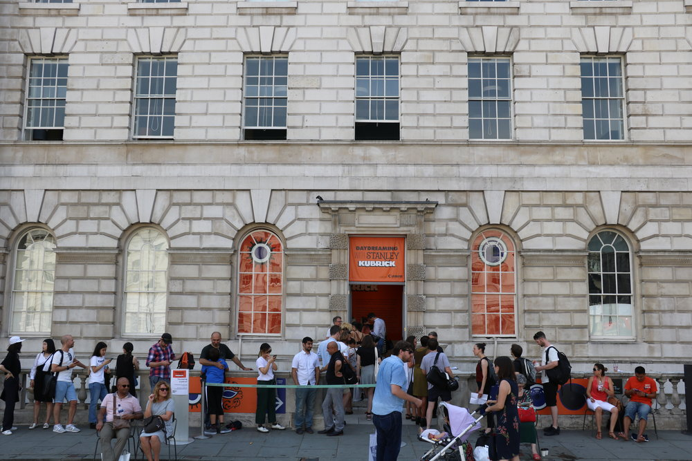 Queues outside the West Wing, Somerset House to see the exhibition