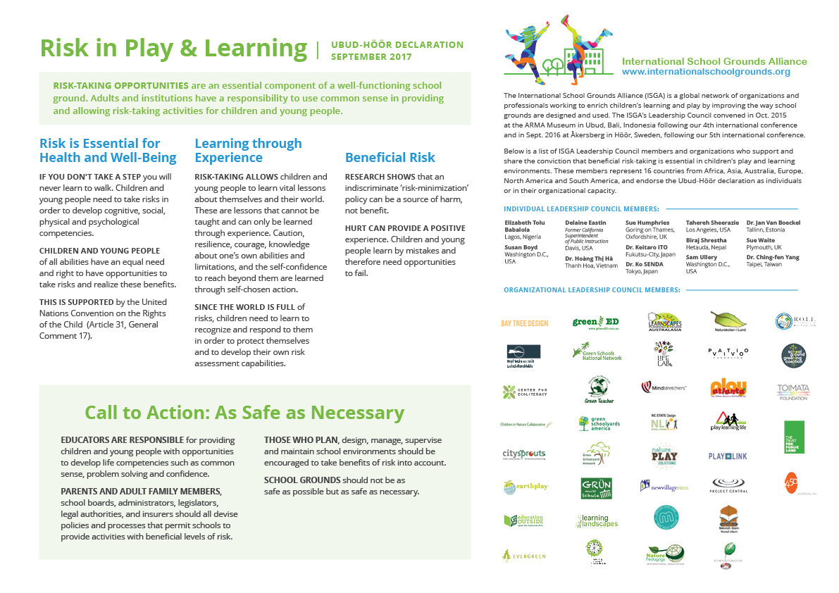 The Risk in Play and Learning document