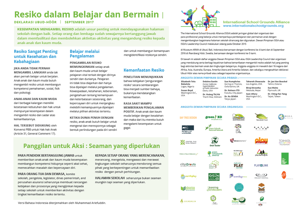 Click here to download the declaration in Indonesian / Bahasa Indonesian.