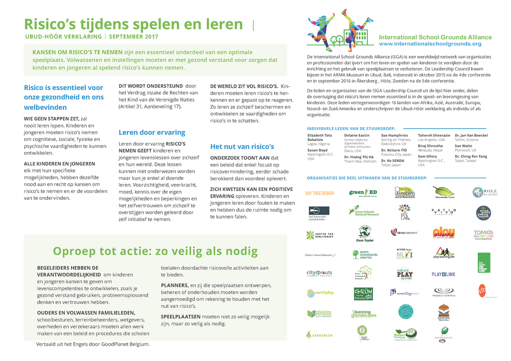 Click here to download the declaration in Dutch / nederlands.