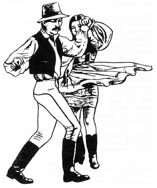 Hungarian Dancers - Drawing by Alex 'Tink' Wilson
