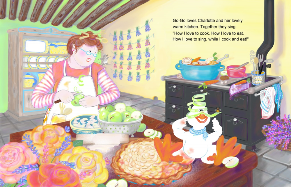Elizabeth Martin Silly Goose pg 8-9 Kitchen Song