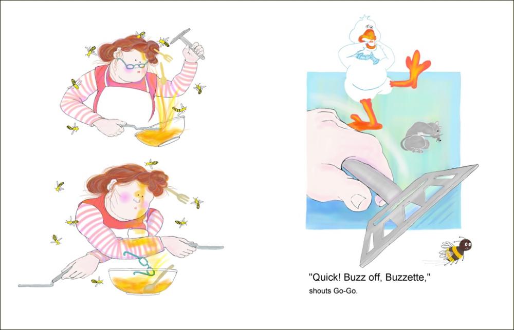Elizabeth Martin Silly Goose Pg 24-25 Buzz Off