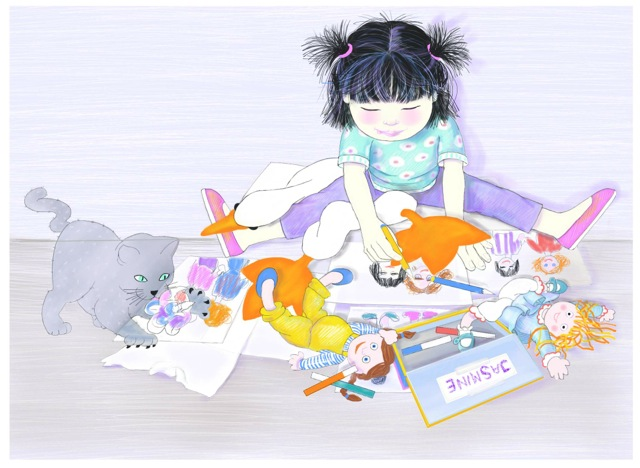Jasmine coloring_2