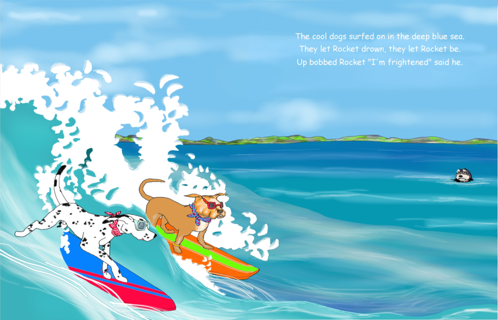 Elizabeth Martin Henry and Rocket Pg 8 Left By Surfers