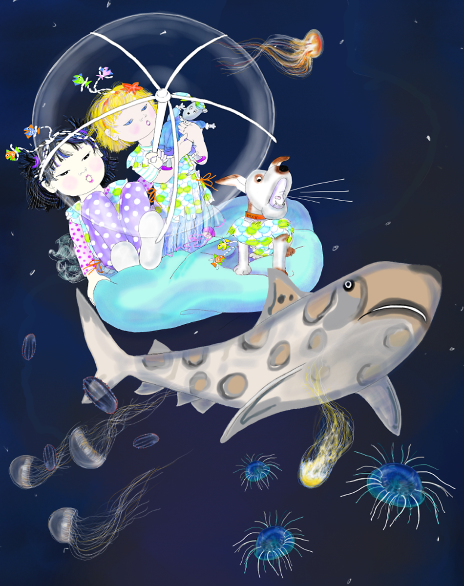 Mermaids in the Ocean, by Elizabeth B Martin