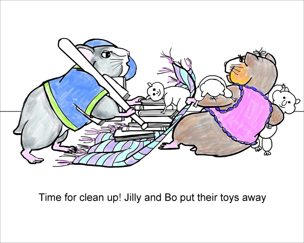 Click on the image to download your own Jilly and Bo Coloring Page by Elizabeth B Martin!