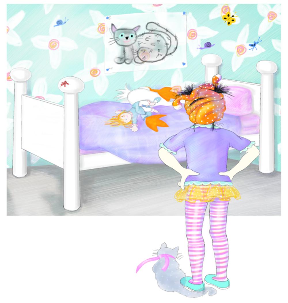 Bugs on Jasmine's Walls, Illustration by Elizabeth B Martin