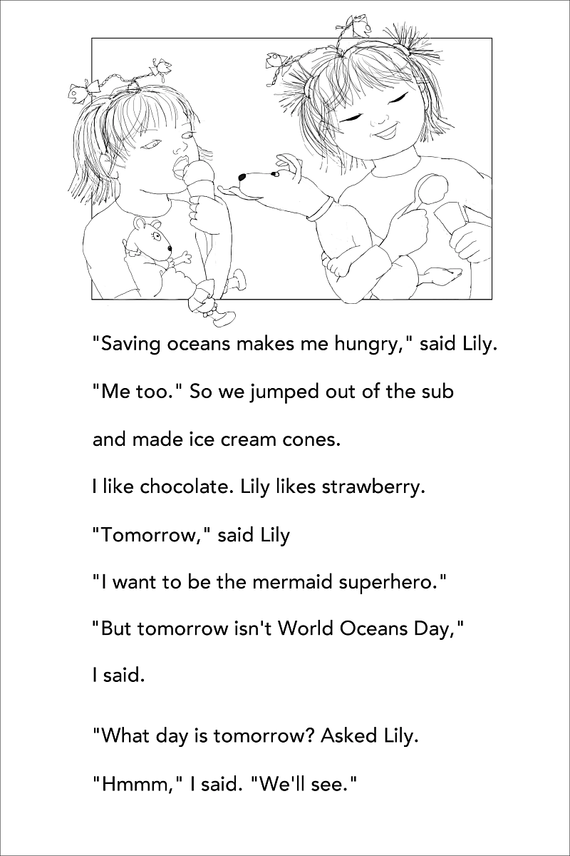 Mermaid Superheroes p 48 ice cream
