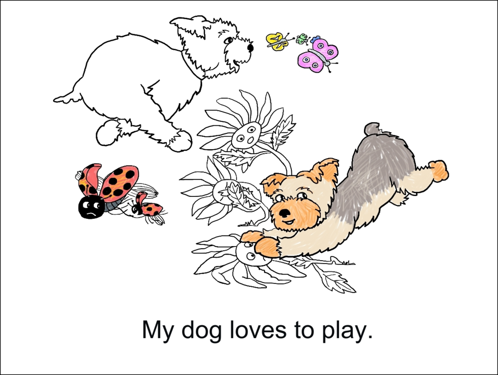 My Dog Henry Color Story, Pg. 3