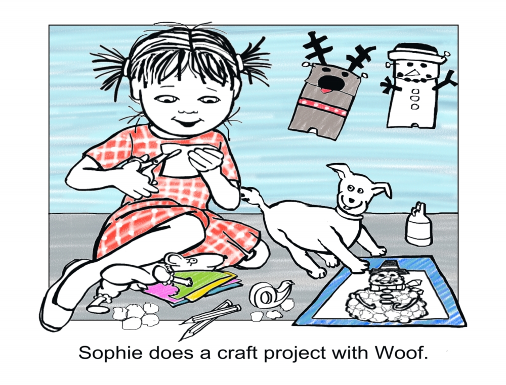 Sophie Makes A Craft Snowman, Page 1