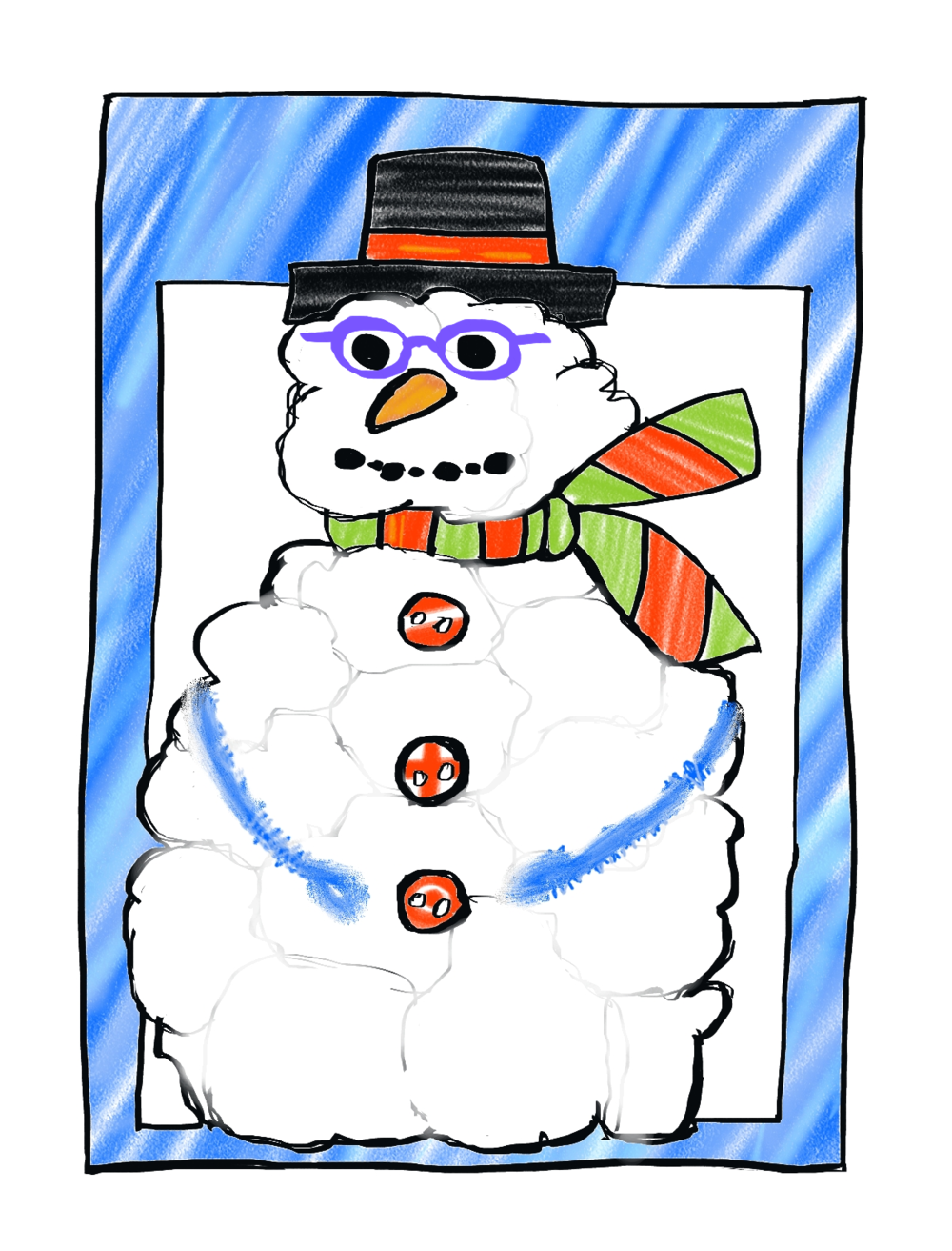 Sophie Makes A Craft Snowman, Page 2
