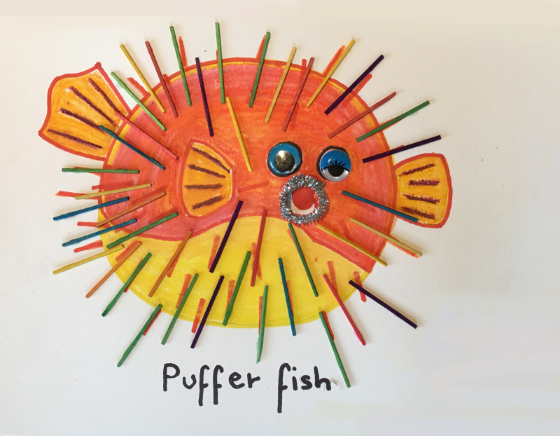 Puffer Fish Art and Craft