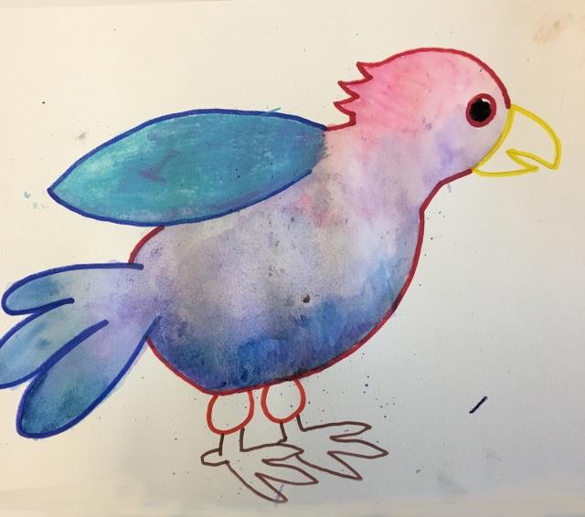 Copy of Watercolor Parrot