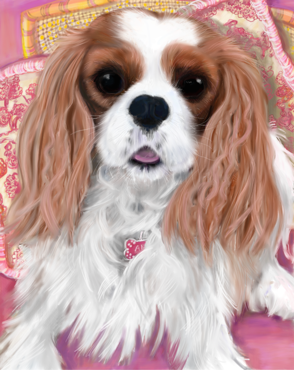 Annie, a pet portrait by Elizabeth B Martin