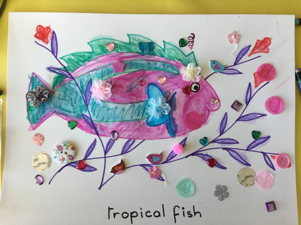 Tropical Fish Art and Craft Project