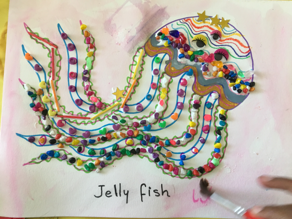 Jellyfish Craft with Colorful Stones