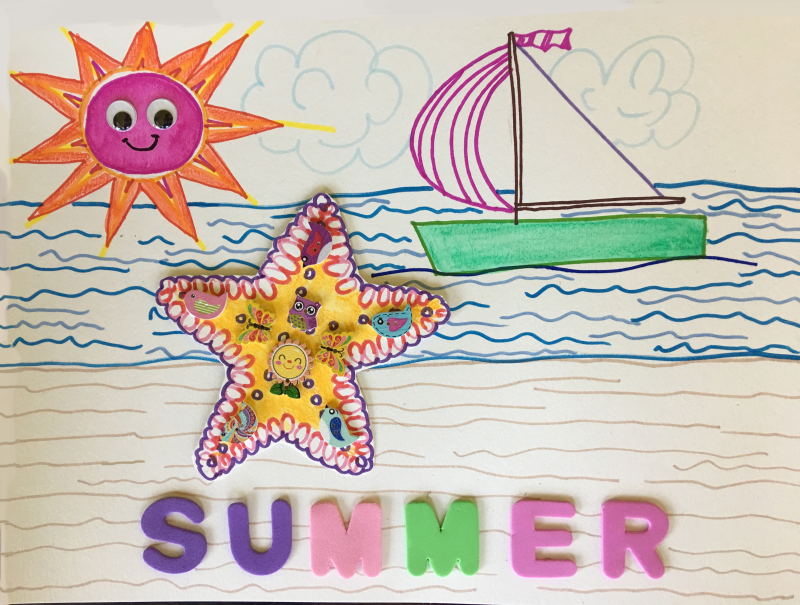 My Summer Art & Craft Project is tomorrow at North Beach Public Library!