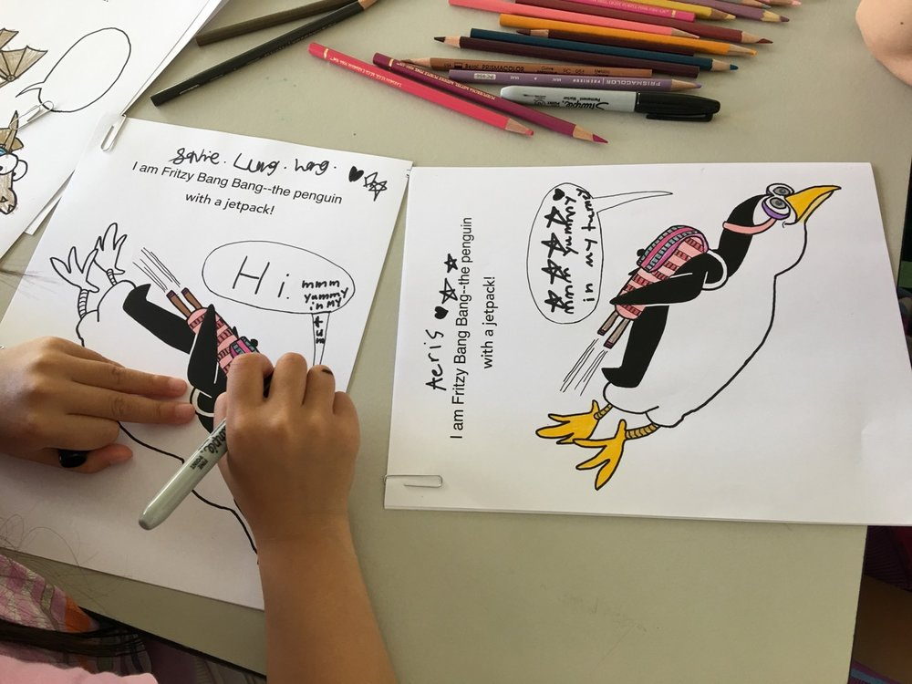 Fun use of speech bubbles at my TelHi cartooning event!