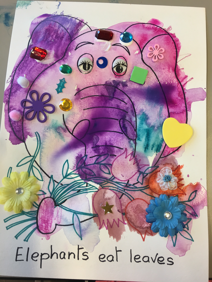 Fun Elephant By One of the Children
