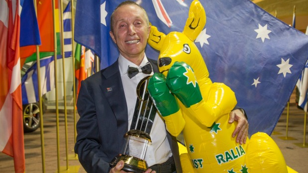 'Shopkins King': Manny Stul celebrates his win at the EY World Entrepreneur awards ceremony in Monaco.