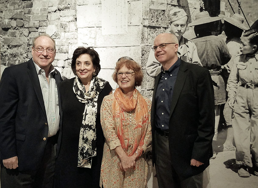 Jewish Museum of Florida-FIU Board Chairman Ira D. Giller, Executive Director Susan Gladstone, Ann Rothstein-Segan, and Brodie Hefner