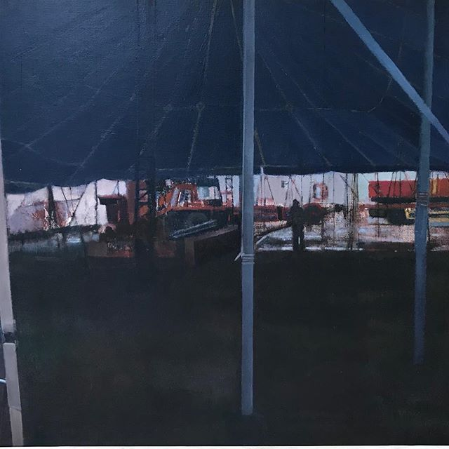 'Long Vehicle' Circus series Donegal. Oil on canvas by Rose Stapleton