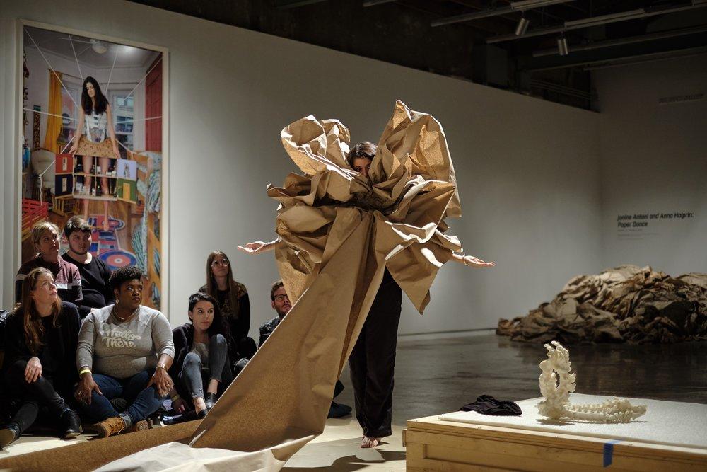 Paper Dance  at The Contemporary Austin  Photograph by Giulio Sciorio