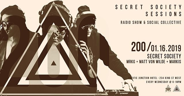 Episode 200 this Wednesday Jan 16th @ @pacificjunctionhotel #secretsocietyto #200 #consecutive #toronto #localsonly