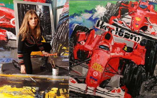 MINA IN HER STUDIO IN MILANO, ITALY