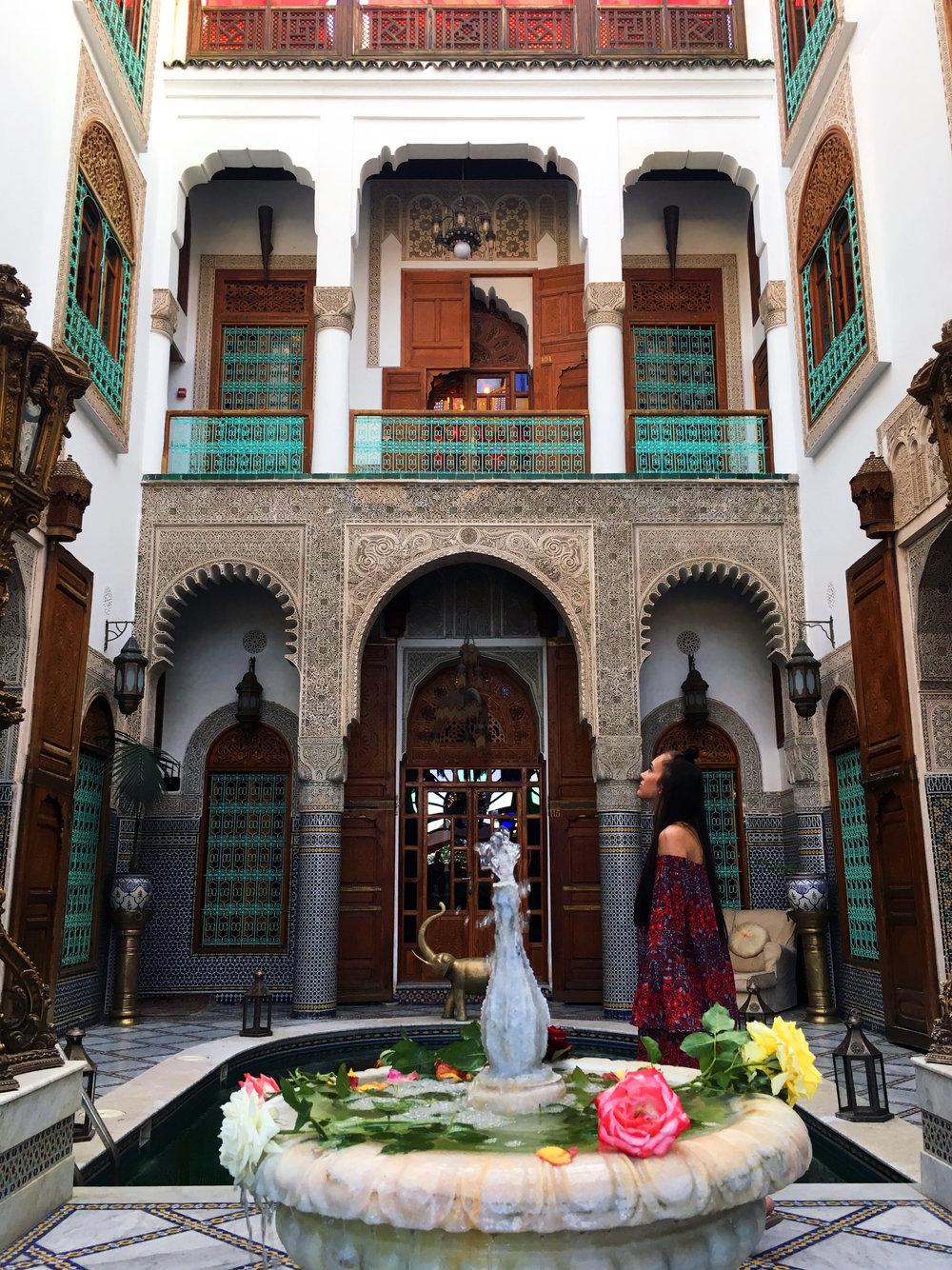 A riad in a Moroccan home.