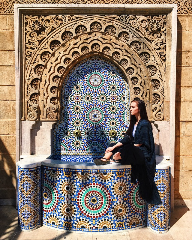 Fountain at Mausoleum of Mohammed V in Rabat.