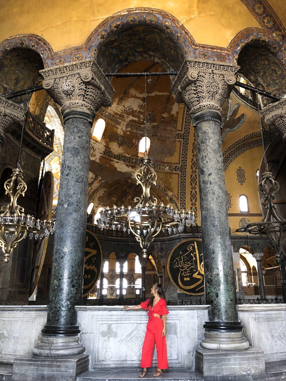 Upstairs inside Hagia Sophia
