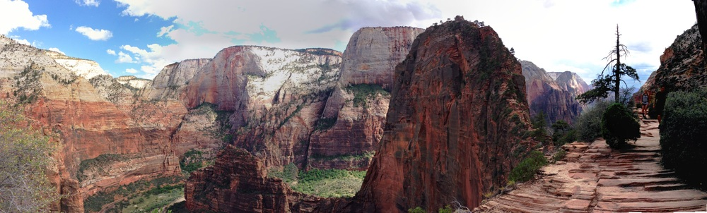 Panoramic view of Angels Landing